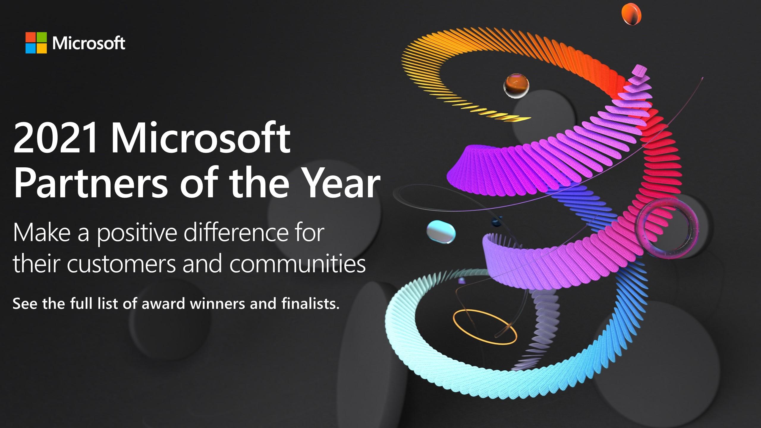 Microsoft partner of the year award winners