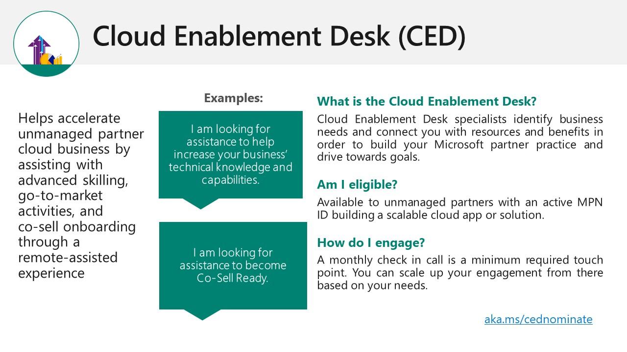Cloud enablemennt desk for Microsoft partners