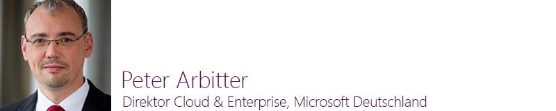 Peter Arbitter, Direktor Cloud & Enterprise, Microsoft Deutschland