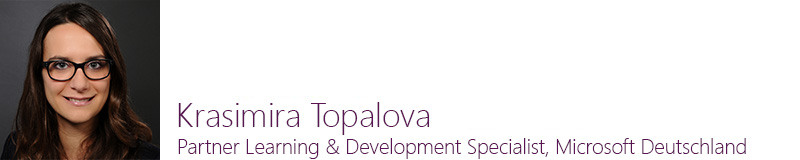 Krasimira Topalova, Partner Learning & Development Specialist, Microsoft Deutschland GmbH