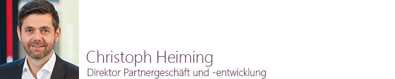 Christoph Heiming, Direktor Partnergeschäft und -entwicklung