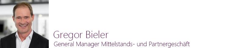 Gregor Bieler, General Manager Mittelstands- und Partnergeschäft, Microsoft Deutschland GmbH