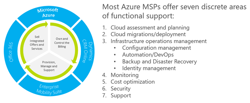 Azure MSP functional support