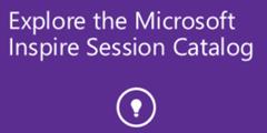 Microsoft Inspire Session Catalog