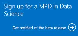 Sign up for a MPD in Data Science