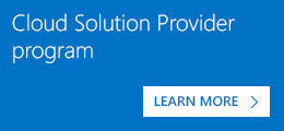 Cloud Solution Provider program
