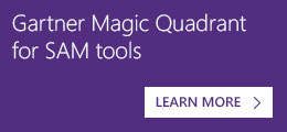 Gartner Magic Quadrant for SAM tools