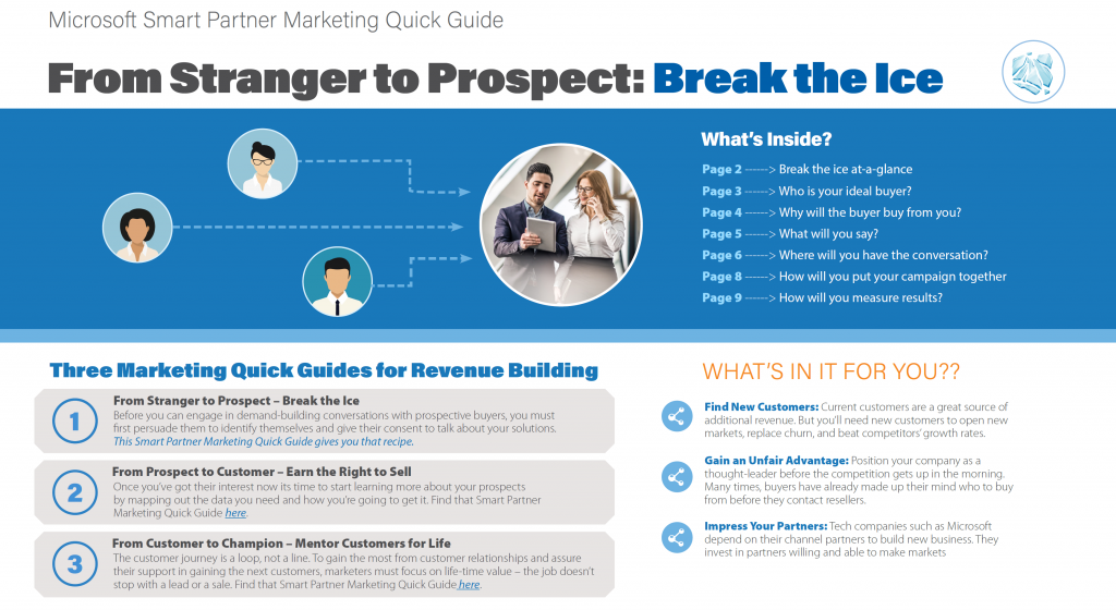 "slide from ""Quick Guide 1: From Stranger to Prospect – Break the Ice"""