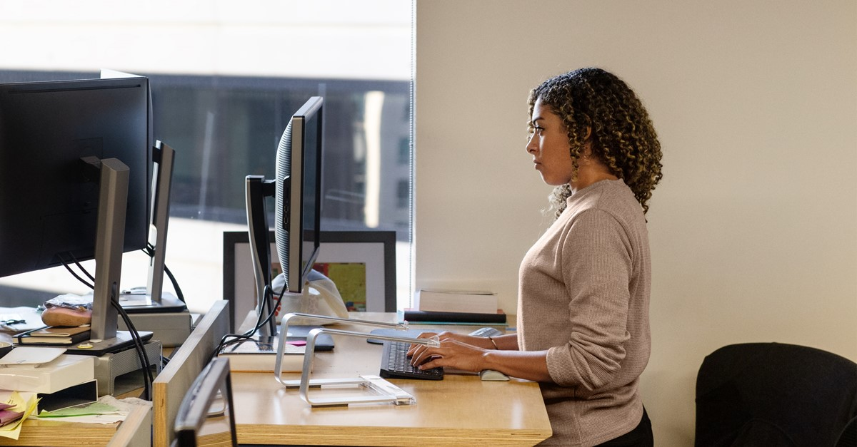 Partner at laptop