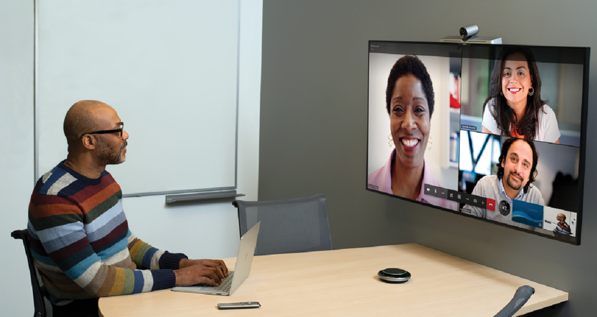 Partners in video call