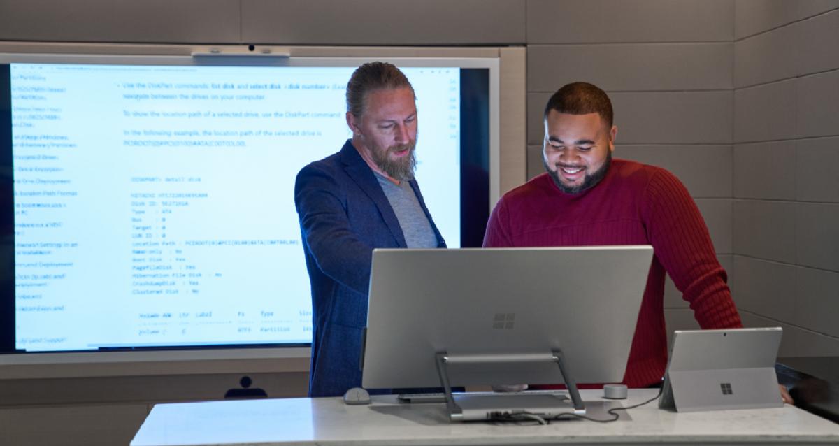 Men at laptop