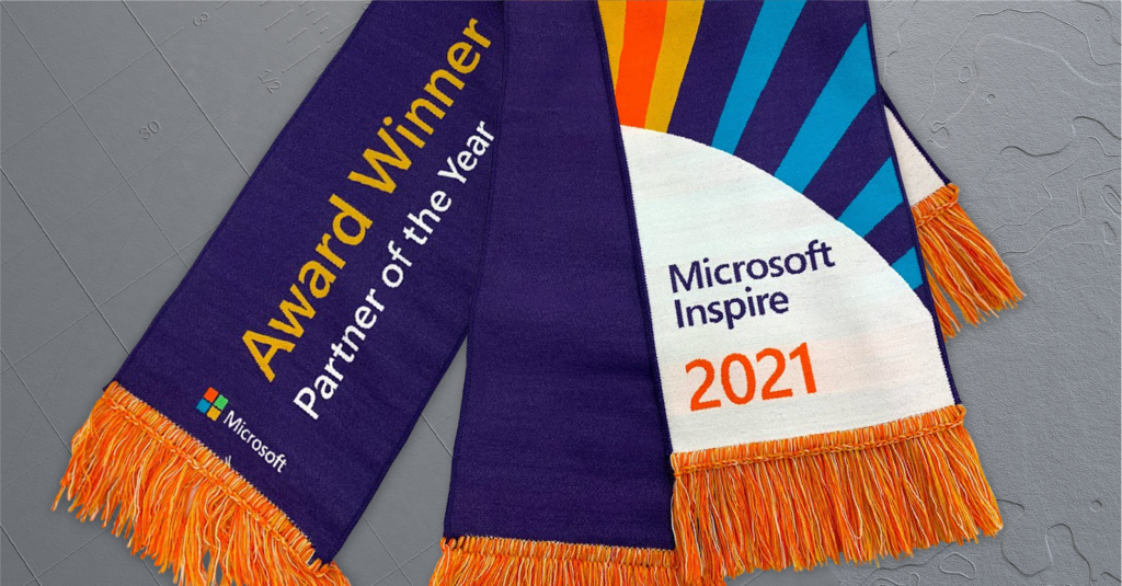 partner of the year awards purple and orange winners scarf